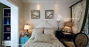 2018中式卧室装修欣赏图样板间中式现代家装装修案例效果图