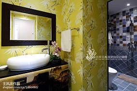 精美卫生间中式装饰图片大全样板间中式现代家装装修案例效果图