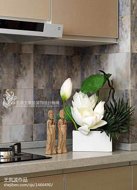 热门中式卫生间装修效果图样板间中式现代家装装修案例效果图