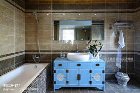 热门中式卫生间装修设计效果图片大全样板间中式现代家装装修案例效果图