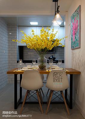 精美70平米混搭小户型餐厅装修实景图片大全