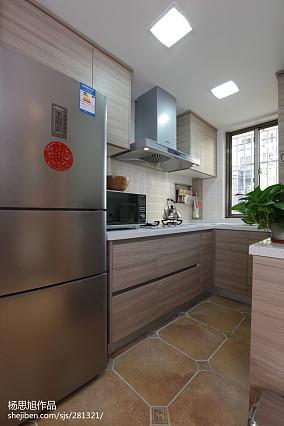 2018混搭小户型厨房装修实景图片