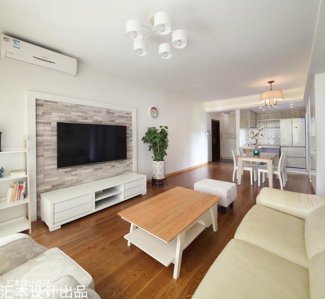 现代简约客厅电视墙装修设计客厅现代简约客厅设计图片赏析