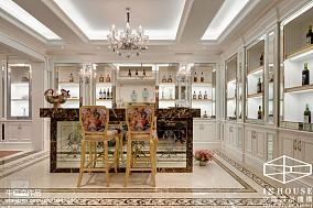 美式吧台酒柜样板间设计图片