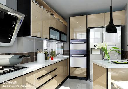 面积95平现代三居厨房欣赏图片151-200m²三居现代简约家装装修案例效果图