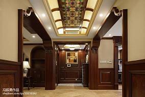 热门面积130平别墅过道美式装修设计效果图