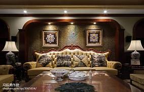 热门129平方美式别墅客厅设计效果图