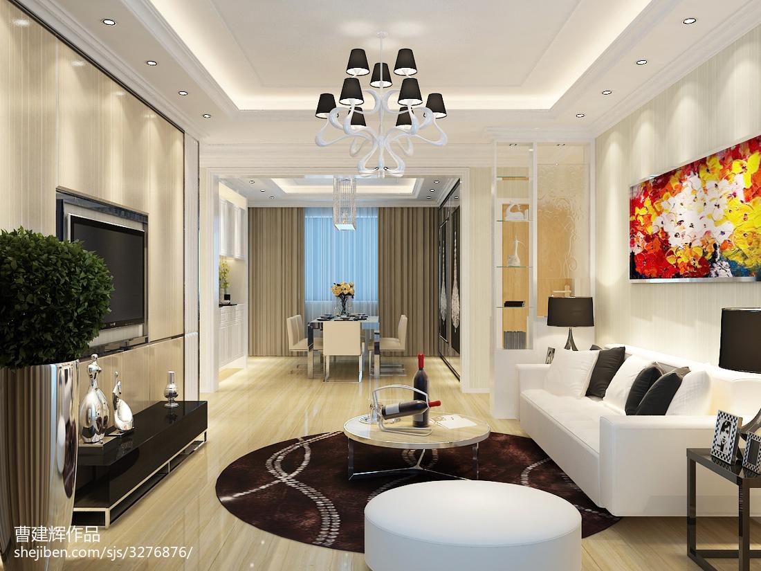2018精选大小104平现代三居客厅欣赏图客厅