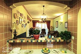面积102平美式三居厨房效果图片大全81-100m²三居美式经典家装装修案例效果图