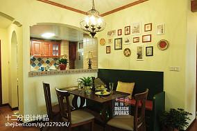 热门面积96平美式三居餐厅装修设计效果图片81-100m²三居美式经典家装装修案例效果图
