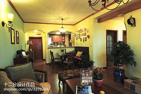 精美97平米三居客厅美式装修效果图81-100m²三居美式经典家装装修案例效果图