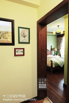 热门面积90平美式三居卧室装饰图片大全81-100m²三居美式经典家装装修案例效果图