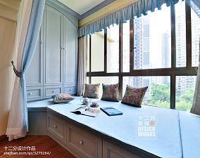 田园卧室飘窗装饰装修设计效果图大全