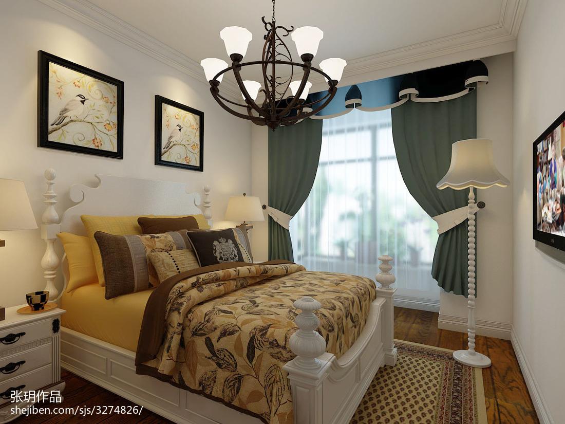卧室设计装修图库卧室美式经典卧室设计图片赏析