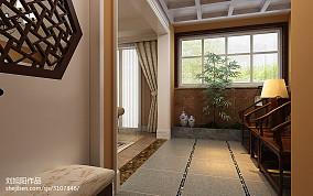 2018精选130平米中式复式玄关装饰图片