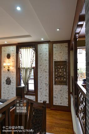 精美中式别墅过道装修欣赏图