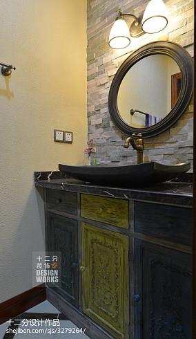 精选中式别墅卫生间装修实景图片大全