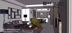 65平米两室一厅装修效果图客厅设计