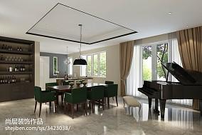 118平米中式别墅餐厅实景图片欣赏