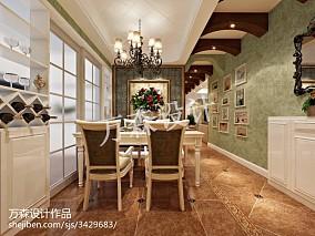 精选面积77平美式二居餐厅装修图片