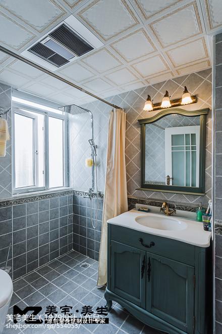 简洁122平地中海三居装修装饰图卫生间