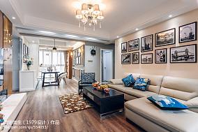 热门90平客厅三居现代装修效果图片欣赏