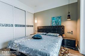 热门98平米三居卧室现代装修实景图