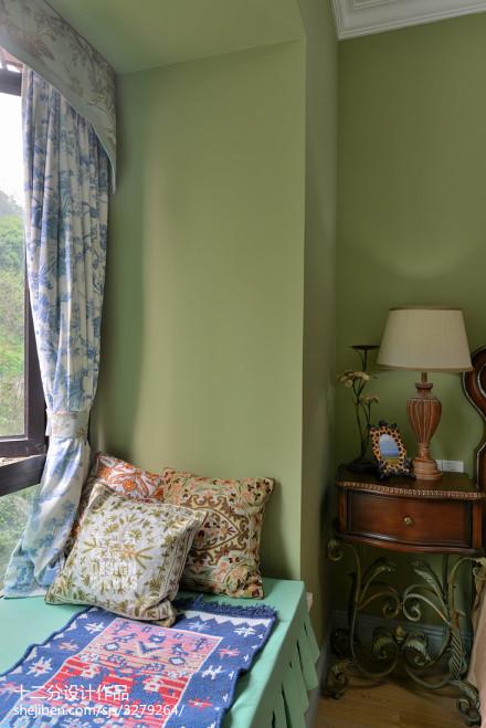 简洁91平欧式四居卧室装潢图卧室1图