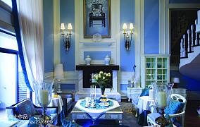 大小137平别墅客厅中式装修效果图片欣赏