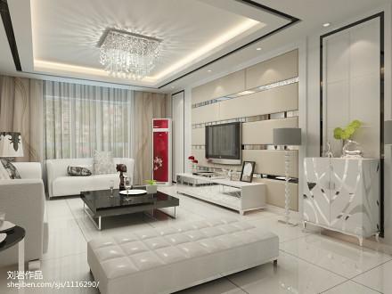 精美99平米三居客厅现代效果图121-150m²三居现代简约家装装修案例效果图