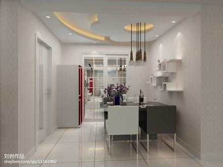 热门面积102平现代三居餐厅装修设计效果图