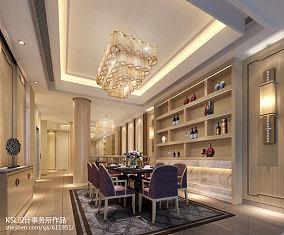 2018现代别墅餐厅装修设计效果图片大全