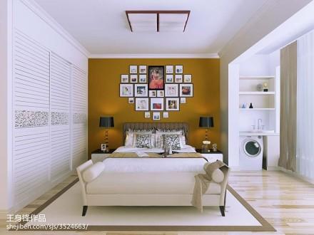 201897平方三居卧室现代效果图片欣赏三居现代简约家装装修案例效果图