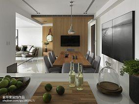 热门93平方三居餐厅现代装修效果图