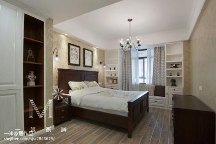 面积137平美式四居卧室效果图片大全