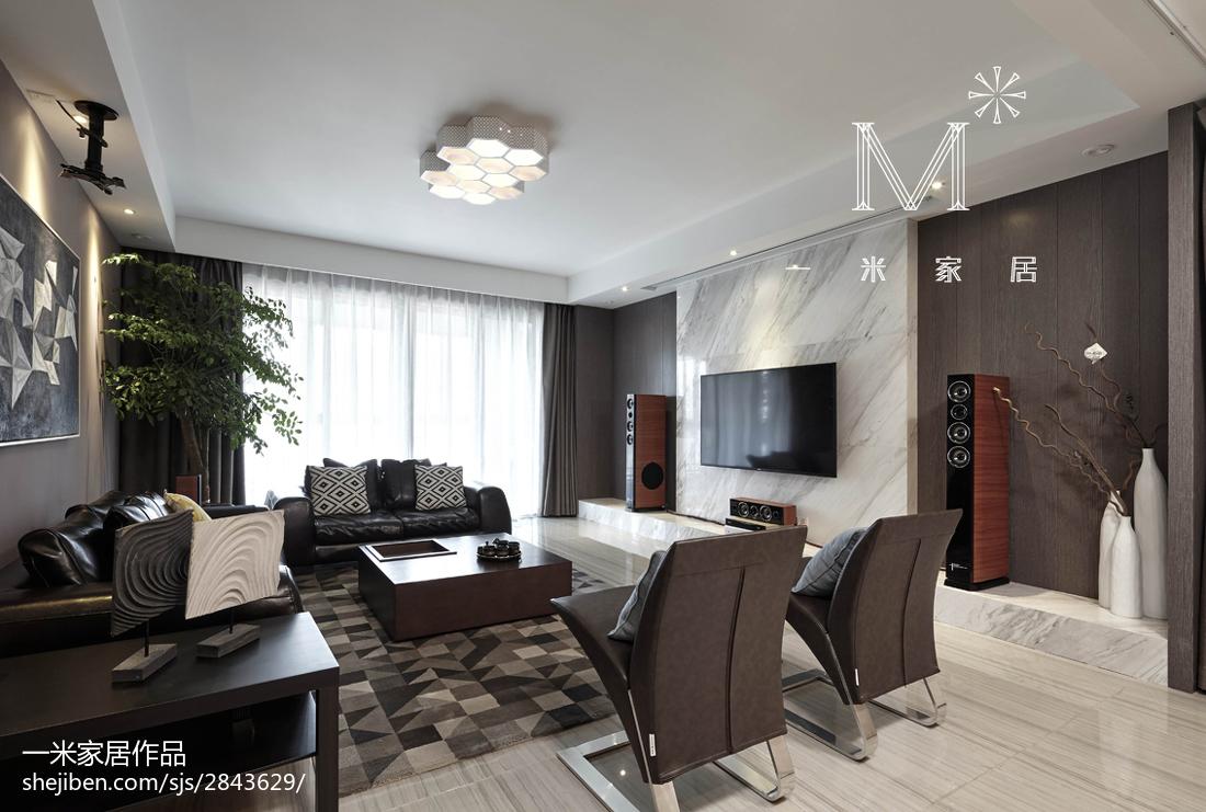 230㎡现代风客厅吊顶设计效果图客厅现代简约客厅设计图片赏析