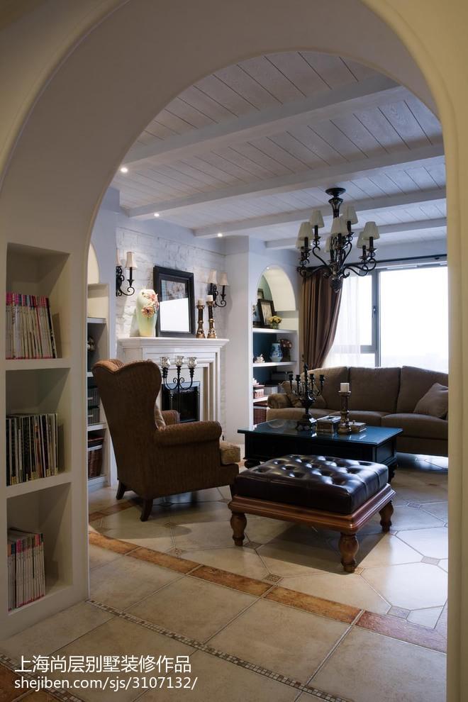 热门144平米新古典别墅客厅装修设计效果图客厅美式经典客厅设计图片赏析