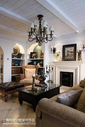 精选110平米新古典别墅客厅装修欣赏图片大全