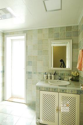 田园卫浴洗手台装修效果图美式田园设计图片赏析
