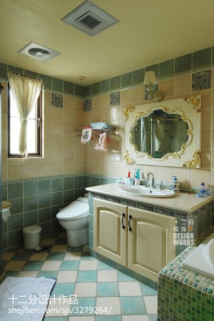 精选别墅卫生间混搭欣赏图片大全卫生间4图