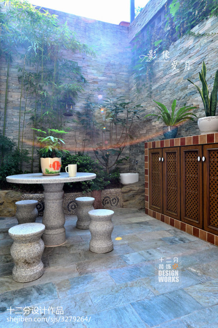 精选美式复式花园效果图片大全功能区2图