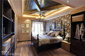 精选面积96平田园三居卧室装修设计效果图片