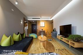 2018面积90平现代三居客厅实景图片