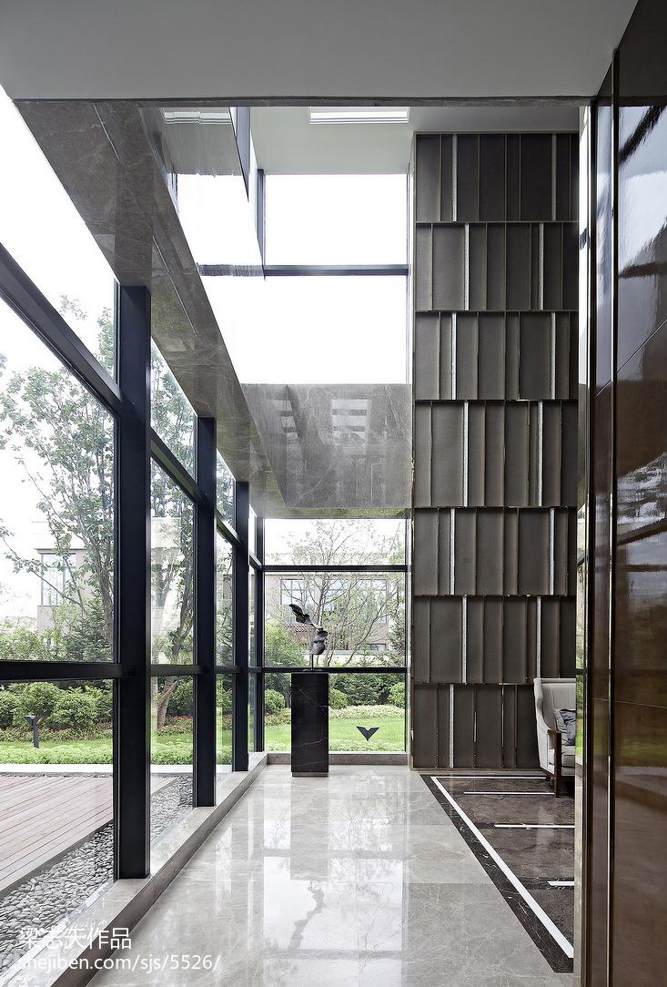 别墅混搭风格过道装修样板间设计潮流混搭设计图片赏析