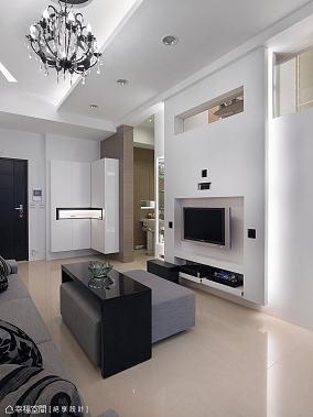 大气90平米小户型浪漫的主卧室卫生间