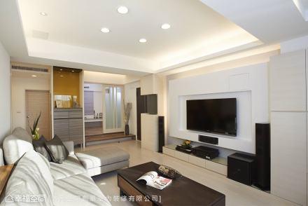 电视墙_1493464_180768381-100m²现代简约家装装修案例效果图
