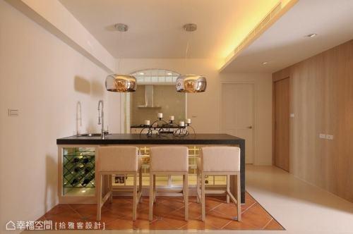 餐厅吧檯功能区101-120m²美式田园家装装修案例效果图