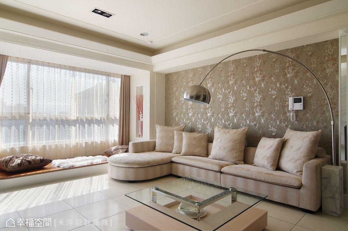 沙发背墙与卧榻客厅现代简约客厅设计图片赏析