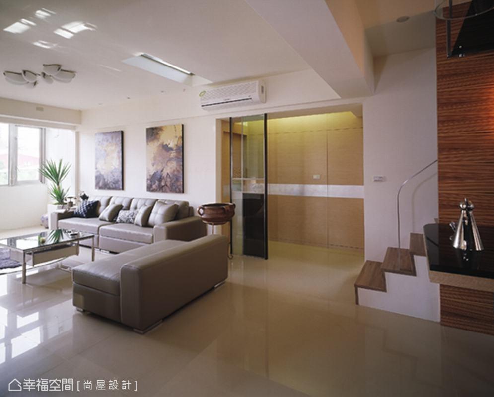 客厅&楼梯功能区潮流混搭功能区设计图片赏析