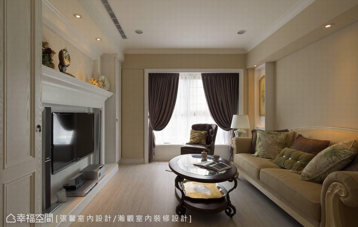沙发背墙客厅美式经典客厅设计图片赏析